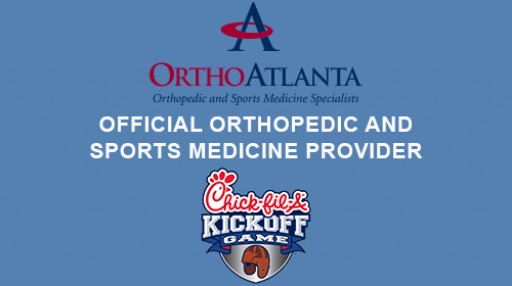 OrthoAtlanta is the Official Sports Medicine Provider of the 2018 Chick-fil-A Kickoff Game on September 1 in Mercedes-Benz Stadium