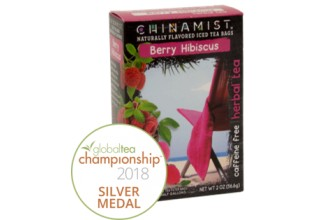 China Mist Naturally Flavored Berry Hibiscus Herbal Iced Tea