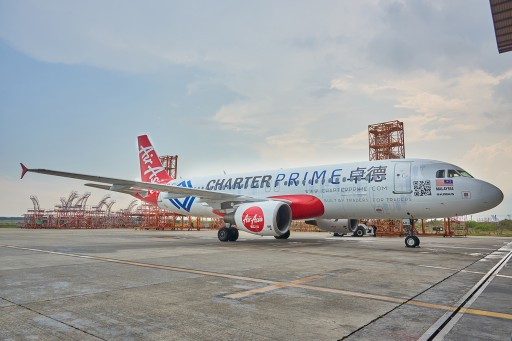 Charterprime Launches Custom Livery With AirAsia