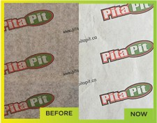 Pita Pit Canada Wrap before and after with thinbarrier® eco.