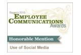 Ragan's 2016 Employee Communications Awards - Use of Social Media