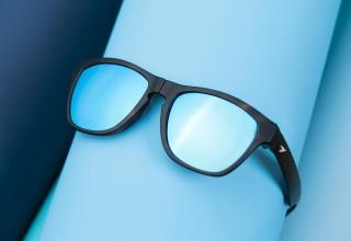 Tortoise Shell Blue Lens
