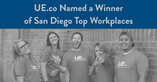 The San Diego Union-Tribune Names UE.co a Winner of the San Diego Top Workplaces
