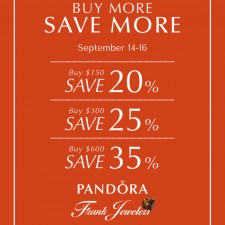 Freeport-Based Frank Jewelers Announce Pandora Buy More Save More Event