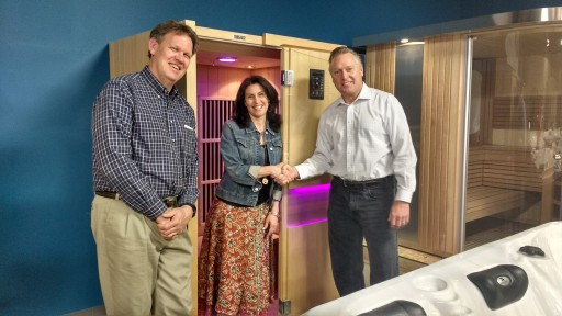 Local Business Professional Wins Drawing for Free Home Sauna