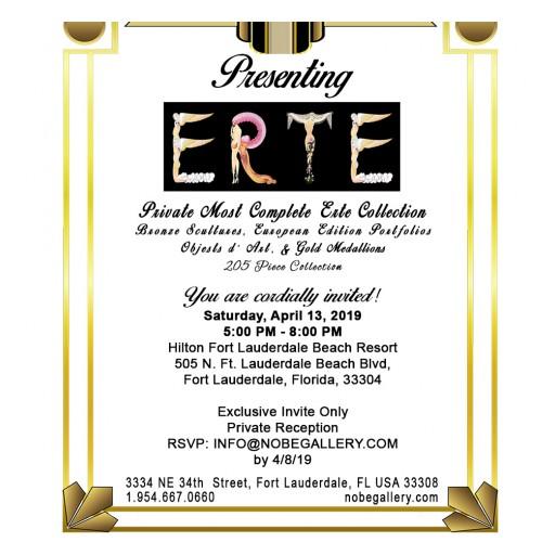 Erté Original & Complete Art Collection - Private Red Carpet Showing Event April 13, 2019