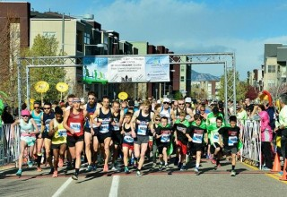The starting line of the 9th Annual Frank Shorter RACE4Kids' Health 5K (image from allevents.in)