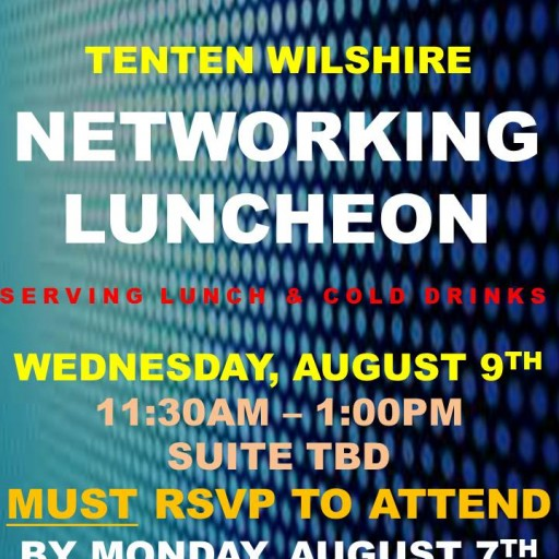 TENTEN Wilshire Rooftop: Networking Lunch on the Top of the Town