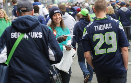 Scientologists Bring the Truth About Drugs to Seahawks Fans