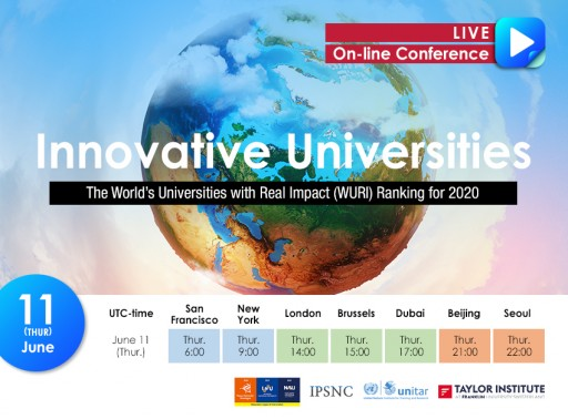 Four Global Organizations Jointly Propose a New Ranking for Innovative Universities: World Universities With Real Impact (WURI) for 2020 While Sharing Kaggle Data