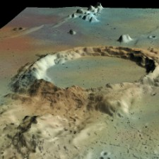 3D View of the Moon