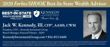 Jack W. Kennedy III, CFP®, AAMS, President and CEO of Kennedy Investment Group and Kennedy Insurance Services, Raymond James Branch Manager, Registered Principal and Financial Planner