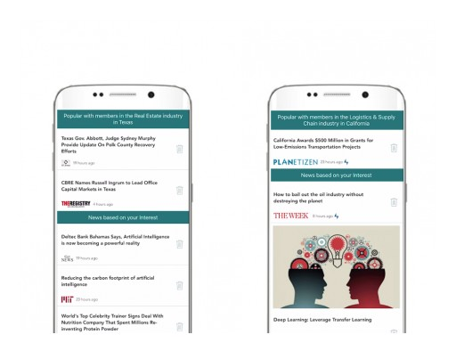 Newsology Reponds to User Request - Launches Section for Trending News by Industry by Region
