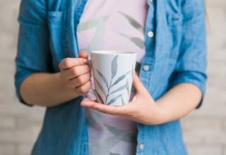 Eucalyptus Sprigs Latte Mug