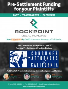Rockpoint Legal Funding Endorsement from CAOC