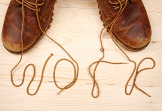 """Work Boot Laces Spelling Out """"Work"""""""