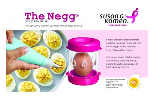 The Innovative Egg Peeler Negg® Celebrates Its 2nd Anniversary With a Breast Cancer Fundraising Initiative