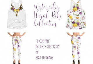 Doe Fall - Watercolor Floral Boho Collection
