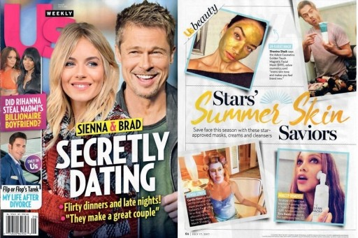 US Weekly Features Magnetic Gold Mask From Adore Cosmetics