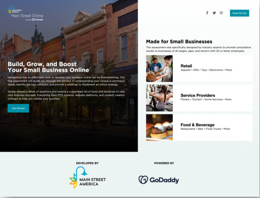 Main Street America Launches E-Commerce Tool in Partnership With GoDaddy to Help More Small Businesses Get Online