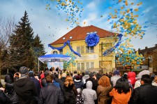 On a warm afternoon in central Košice, the ribbon falls on the city's new Ideal Church of Scientology Mission.