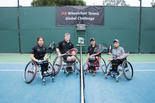 Young Wheelchair Tennis Athletes and Aspiring Paralympians From Japan, Canada, and the United States Meet in San Diego