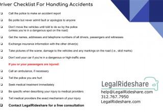 LegalRideshare Driver Checklist
