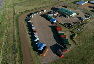 Aerial View of Colorado Shed Company