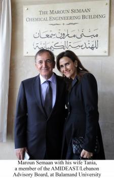 Maroun Semaan and Wife