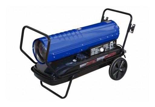 Larson Electronics Releases 120V Cart Mounted Forced Air Heater, Kerosene/Diesel, 13Gal Tank, 215,000 BTUs, 670 CFM