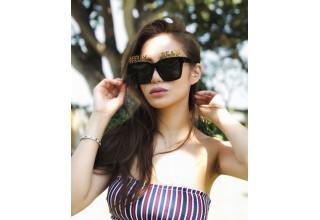 Elly Lam wears Alphabet Sunglasses