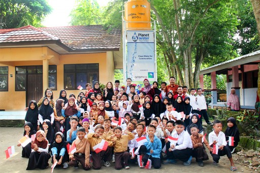 Aramco Asia Singapore Responds to Urgent Need for Safe Drinking Water in Indonesia Through Partnership With Planet Water Foundation