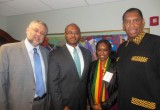 Anthony Elmore meets with South African Ambassador Ebrahim Rasool.  In picture is Congressman Cohen representative William Conner and Bogalech Elmore