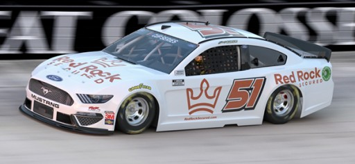 Red Rock Secured Teams Up With Joey Gase and Rick Ware Racing for the 36th NASCAR All-Star Race