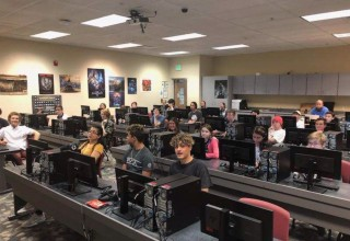 Group of Students at a Code to Success Base