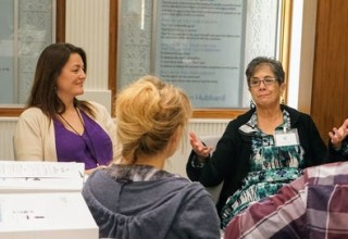 Educators, mentors and social workers gain practical experience using of the Truth About Drugs educational program at the workshop.
