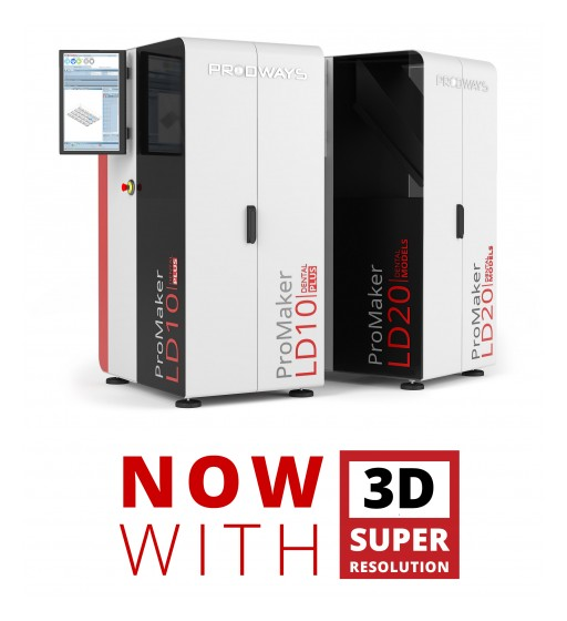Prodways Group Integrates Innovative New Features Into Its Range of MOVINGLight® ProMaker LD Series 3D Printers