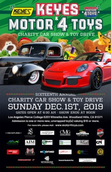 Motor4Toys Charity Car Show and Toy Drive Takes Place Dec. 1, 2019