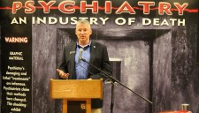Washington State Representative Chad Magendanz at the grand opening of the Psychiatry: An Industry of Death Exhibit in Seattle, Washington