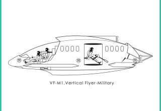 Corporation of Flight, Inc. VF-M1, vertical flyer-military -1b
