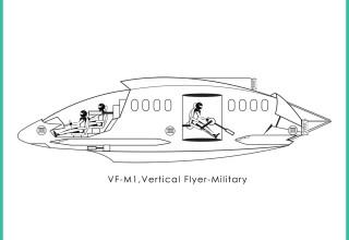 Corporation of Flight, Inc. VF-M1, vertical flyer-military -1b