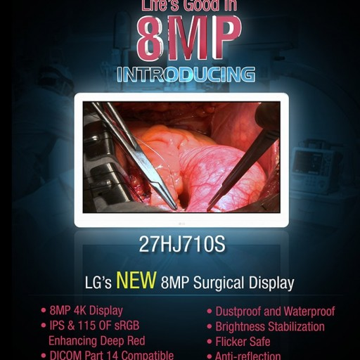 Ampronix Announces Availability of LG 8MP / 4K Surgical Display Monitor