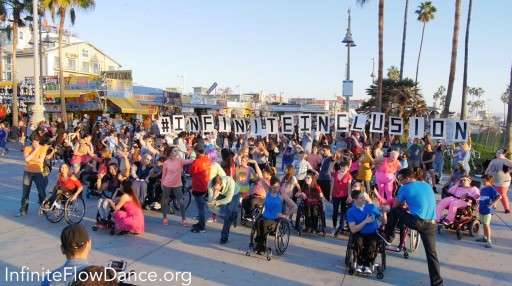 Infinite Flow, America's 1st Professional Wheelchair Ballroom Dance Company,  Sends a Powerful Message of Accepting and Celebrating Diversity by Performing an #InfiniteInclusion Flash Mob at Venice Beach