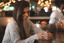 Trendy Woman with Silver Rings