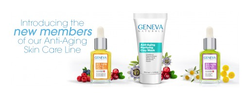 Geneva Naturals Expands Natural Skin Care Product Line With Face Oils and Clay Mask