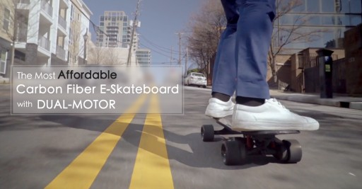 KingKong Pro Dual Motor Carbon Fiber Wrapped E-Skateboard Goes Live on Kickstarter