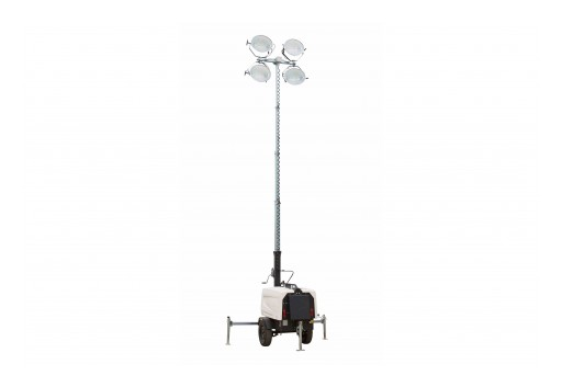 Larson Electronics Releases 25' Telescoping Light Tower W/ 7.5kW Generator, 43 Gallon Tank