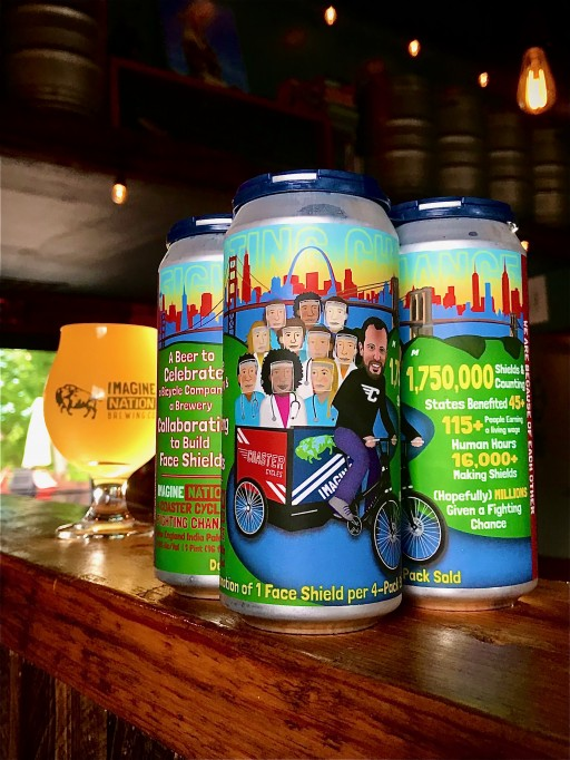 Missoula's Coaster Cycles & Imagine Nation Brewing Co. Toast to Successful PPE Collaboration