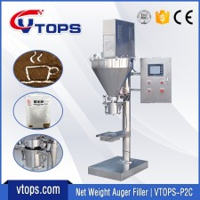 Net Weight Auger Filler with Clamp Hold Device | VTOPS-P2C