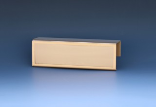 Cubicle Name Plate with Bronze Border